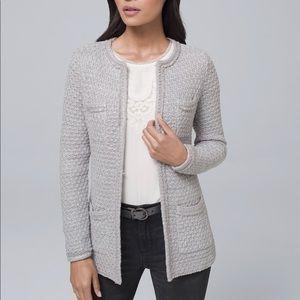 WHBM Sequin-Detail Cardigan Grey M
